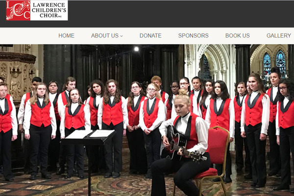 Lawrence Children's Choir has a new website!